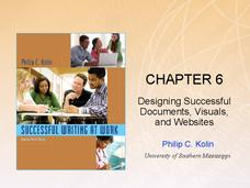 Chapter 6: Designing Successful Documents, Visuals, and Websites Presentation