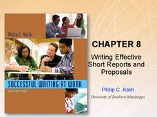 Chapter 8: Writing Effective Short Reports and Proposals Presentation