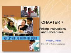 Chapter 7: Writing Instructions and Procedures Presentation