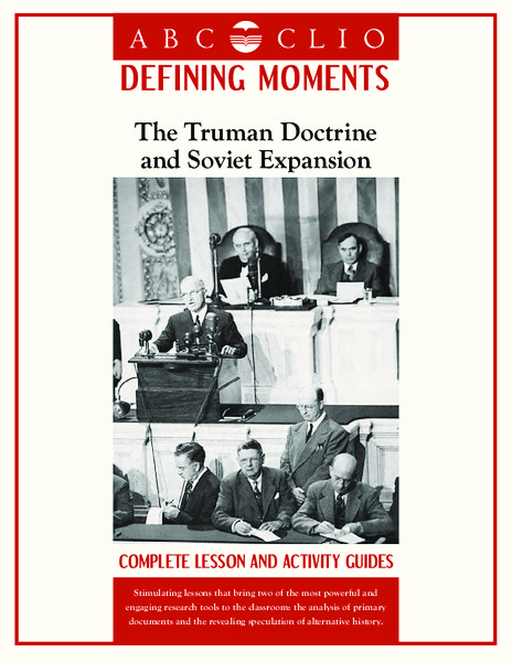 The Truman Doctrine and Soviet Expansion Handouts & Reference