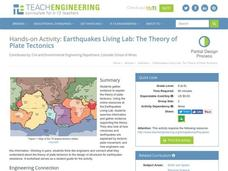 Earthquakes Living Lab: The Theory of Plate Tectonics Activities & Project