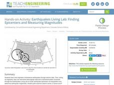 Earthquakes Living Lab: Finding Epicenters and Measuring Magnitudes Activities & Project