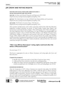 Jim Crow and Voting Rights Lesson Plan