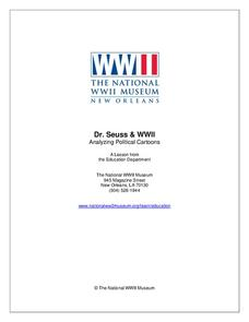 Dr. Seuss and WWII Lesson Plan