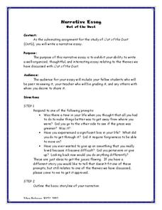 different types of essays worksheets