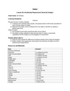 Introducing Physical and Chemical Changes Lesson Plan