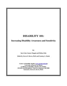 Increasing Disability Awareness and Sensitivity Unit