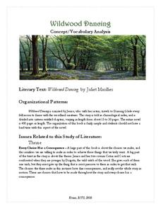 Wildwood Dancing: Concept/Vocabulary Analysis Handouts & Reference
