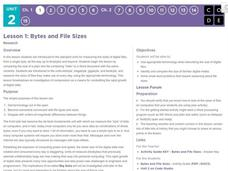 Bytes and File Sizes Lesson Plan