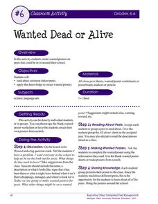 Wanted Dead or Alive Activities & Project