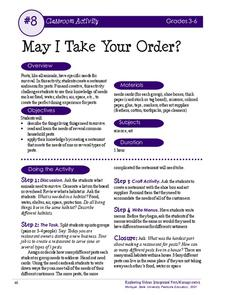 May I Take Your Order? Activities & Project