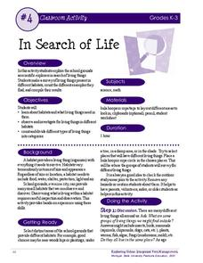 In Search of Life Activities & Project
