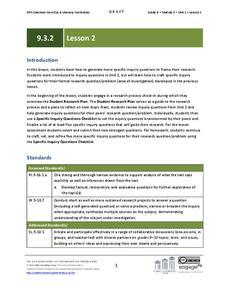 Inquiry based language arts lesson plans worksheets grade 9 ela module 3 unit 2 lesson 2 publicscrutiny Images