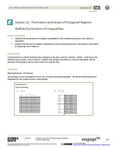 Perimeter and Area of Polygonal Regions Defined by Systems of Inequalities Lesson Plan