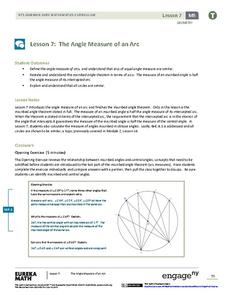 The Angle Measure of an Arc Lesson Plan
