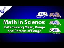 Determining a Population's Mean, Range, and Percent of Range Video