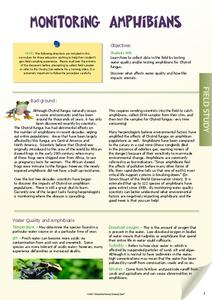Monitoring Amphibians Lesson Plan