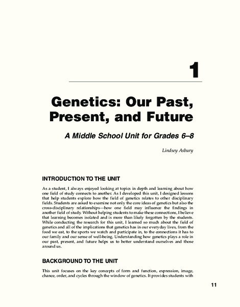 Genetics: Our Past, Present, and Future Unit