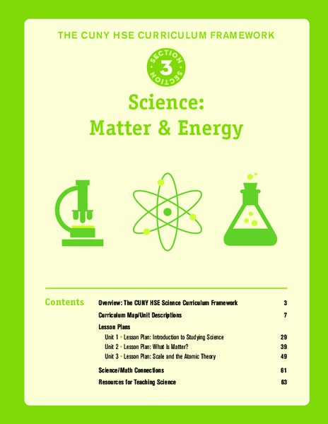 Science: Matter and Energy Unit