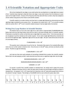 scientific notation and appropriate units worksheet for 8th grade lesson planet. Black Bedroom Furniture Sets. Home Design Ideas