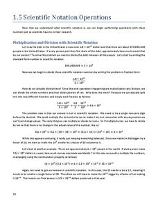 scientific notation operations worksheet for 8th grade lesson planet. Black Bedroom Furniture Sets. Home Design Ideas