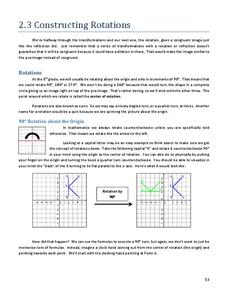 Constructing Rotations Handouts & Reference