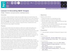 Encoding B and W Images Lesson Plan