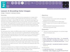 Encoding Color Images Lesson Plan