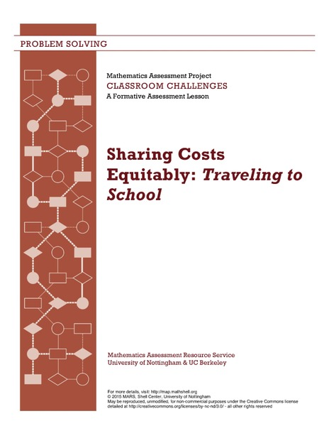 Sharing Costs Equitably: Traveling to School Lesson Plan