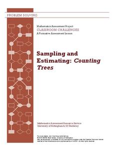 Sampling and Estimating: Counting Trees Lesson Plan