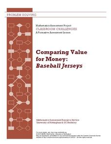 Comparing Value for Money: Baseball Jerseys Lesson Plan