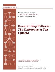 Generalizing Patterns: The Difference of Two Squares Lesson Plan