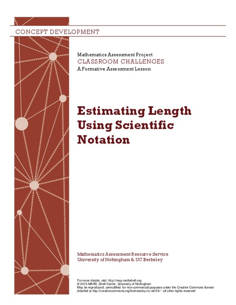 Estimating Length Using Scientific Notation Lesson Plan