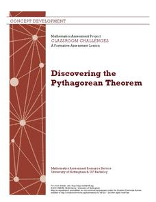 Discovering the Pythagorean Theorem Lesson Plan