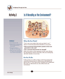 Is It Heredity or the Environment? Activities & Project