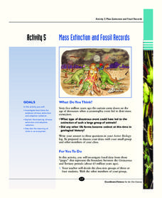 Mass Extinction and Fossil Records Activities & Project