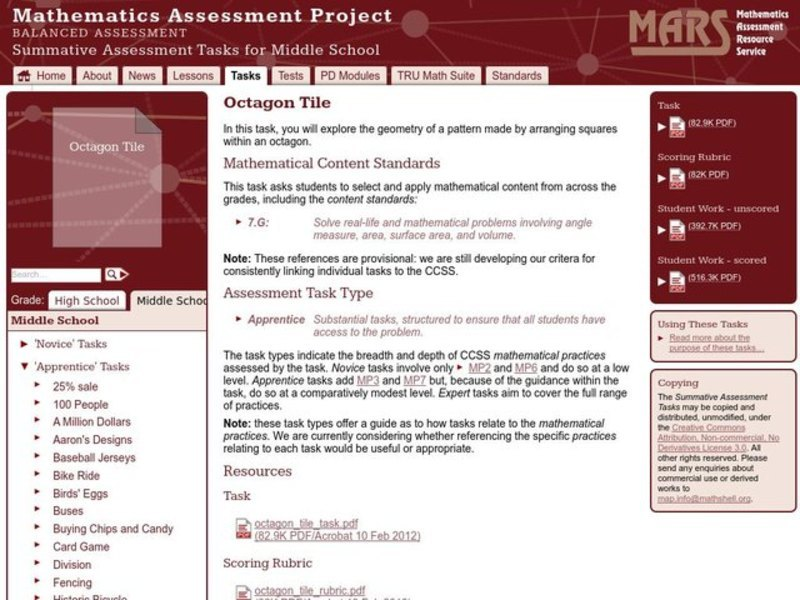 Octagon Tile Assessment