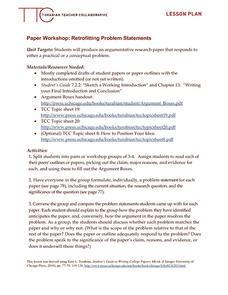 Paper Workshop: Retrofitting Problem Statements Lesson Plan
