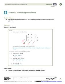 Multiplying Polynomials Lesson Plan