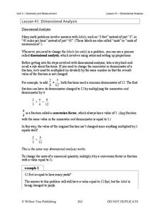 Dimensional Analysis Handouts & Reference