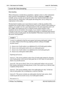 random sampling bias lesson plans worksheets reviewed by teachers. Black Bedroom Furniture Sets. Home Design Ideas