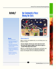 Our Community's Place Among the Stars Activities & Project