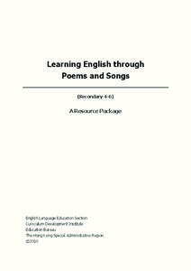 Learning English through Poems and Songs Lesson Plan