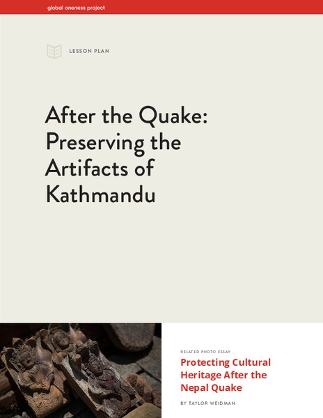 After the Quake: Preserving the Artifacts of Kathmandu Lesson Plan