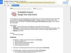 Probability Project: Design Your Own Game Activities & Project