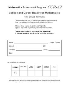 College and Career Readiness Mathematics A2 Assessment