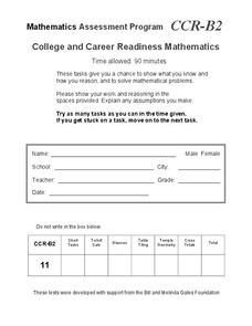 College and Career Readiness Mathematics B2 Assessment