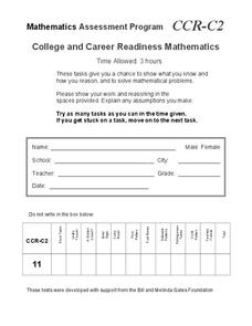 College and Career Readiness Mathematics C2 Assessment