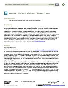 The Power of Algebra—Finding Primes Lesson Plan