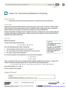 Overcoming Obstacles in Factoring Lesson Plan